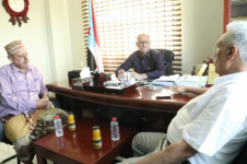 Al-Jaadi meets the Secretary-General of the Yemeni Nasserite Unionist Organization
