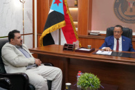Al-Khobaji reviews with head of Transitional Council executive body in Lahj latest developments in the governorate