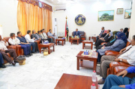 Dr. Al-Khobaji meets the Coordinating Board of the Transitional Council at the University of Aden