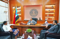 Al-Khobaji discusses with Head of Transitional Council Executive in Shabwa latest developments in the governorate