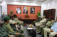 Abdul Rahman Sheikh inspects headquarters of Backup and Support Brigades in Aden the capital