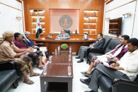 Al-Khobaji discusses with Southern Resistance leaders of Abyan stabilizing security and stability and combating terrorism