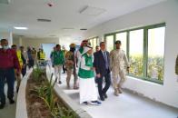 Al-Khobaji inspects progress of work at Aden General Hospital and Open Heart Center