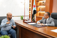 Al-Khobaji discusses with Regional Director of Djiboutian Airlines ways to restart its flights to and from Aden