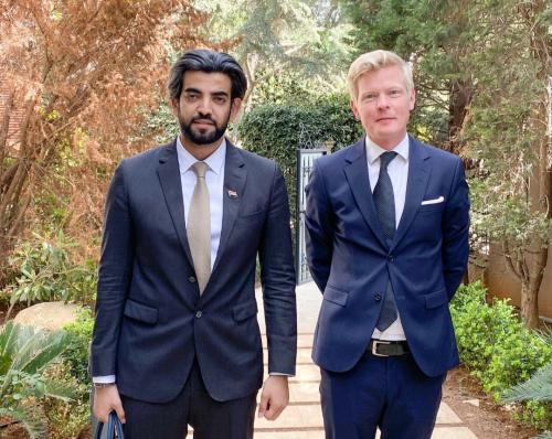 The Special Representative of President Al-Zubaidi meets with head of European Union delegation