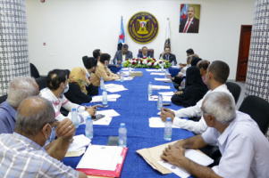 Al-Khobaji and Al-Kaf chair periodic meeting of the General Secretariat of Presidency of Transitional Council
