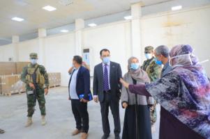 Al-Kaf and Sooki visit warehouses of drugs supply program in Aden the capital