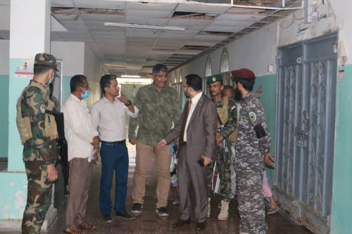 Al-Kaf and Haitham inspect psychiatric and neurological diseases hospital in Aden the capital