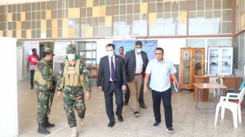 Al-Kaf and Haitham check on the conditions of Al-Amal Health Quarantine Center in Bureika