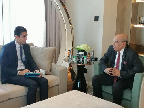 Al-Kathiri meets the official of Yemeni file at Egyptian Embassy in the Kingdom of Saudi Arabia