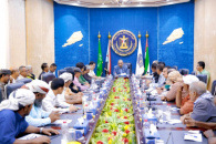 President Al-Zubaidi meets the executive body of local leadership of the Council in Lahj governorate