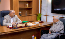 "President Al-Zubaidi meets with Chairman of Board of Directors of ""Al-Ayyam"" Press Foundation"