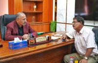 President Al-Zubaidi meets with writer and researcher Saleh Al-Dawil