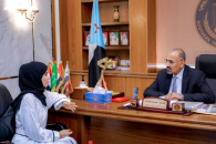 President Al-Zubaidi meets Director of the Information Office in Aden the capital