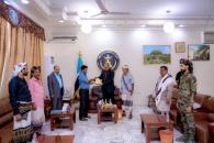 Notables of Al Hotar Al-Markashi tribe honor the President Aidarous Al-Zubaidi