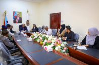 Major General Bin Brik inspects work progress at the National Southern Media Authority
