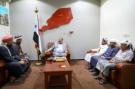 Major General Bin Brik meets a number of sheikhs of Bin Ali Al-Hajj in Yafea Al-Jabal and Hadramout