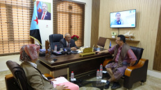 Al-Kathiri meets businessmen Sheikh Mihdhar Bin-Tuhaif and Sheikh Essam Al-Nimr