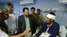 Al-Kaf and Haitham check on wounded of Crater events in hospitals of Aden the capital