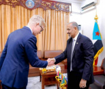 President Al-Zubaidi receives the envoy of Secretary-General of United Nations at headquarters of STC in Aden the capital