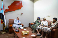Major General Bin Brik meets with sheikhs and dignitaries of Hadak Yafea from Sabah district