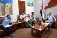 Major General Bin Brik meets delegates of Abd al-Kuri Island and gets briefed on the island's needs