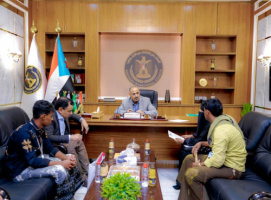 President Al-Zubaidi gets briefed on the situation in Abd al-Kuri Island